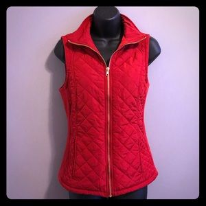 Red Quilted Vest. Small